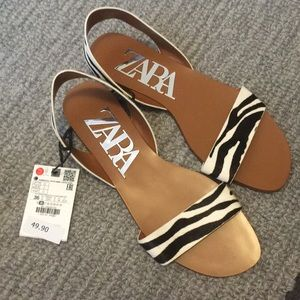 NWT Zara size 6 sandals